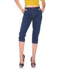 capri jeans retrato falado bolso-faca azul