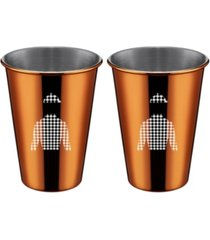 thirstystone by cambridge copper jockey shirt cups - set of 2