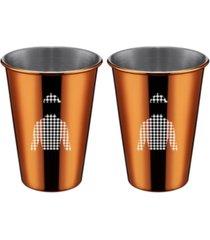 thirstystone by cambridge copper jockey shirt cups - set of 2