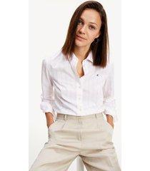 camisa en algodón de corte regular rosado tommy hilfiger