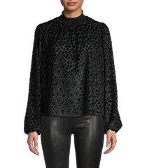 maje women's devore velvet top - black - size 1 (s)