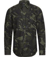 scutar straight shirt l\s skjorta casual grön g-star raw