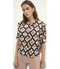 maison scotch 162468 shortsleeve shirt with sleeve inserts