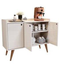 aparador buffet retrô 3 portas wood - off white - rpm móveis