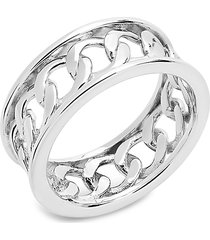 sterling forever women's sterling silver curb chain band ring/size 8 - size 8