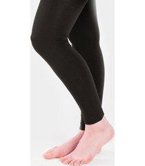 women's emma footless fleece leggings in black by francesca's - size: m