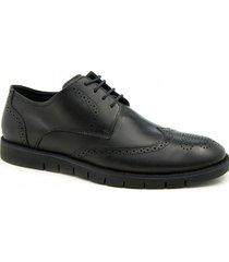zapato de cuero negro ferricelli  life oxford