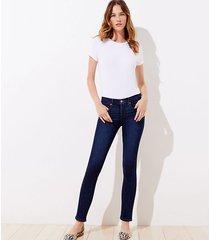 loft slim pocket skinny jeans in vivid dark indigo wash