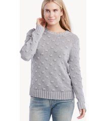 vince camuto women's popcorn crewneck sweater in color: silver heather size large from sole society