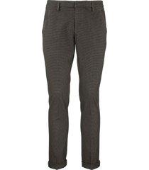 dondup gaubert slim-fit jersey trousers