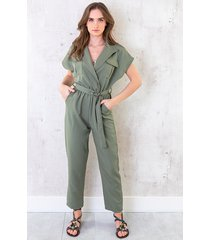 pocket jumpsuit army