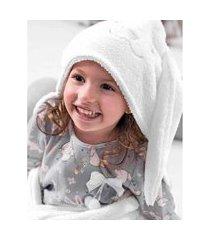 cobertor com touca hug branco a2043