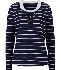 maglia a maniche lunghe in cotone a righe 2 in 1 (blu) - john baner jeanswear
