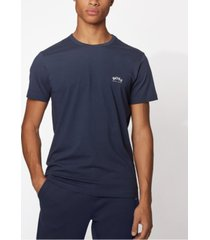 boss men's tee curved navy t-shirt