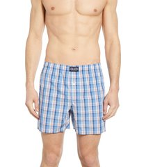 men's polo ralph lauren plaid hanging boxers, size large - pink