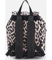 ganni women's leopard backpack - multi