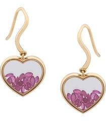 'chivor' ruby heart earrings
