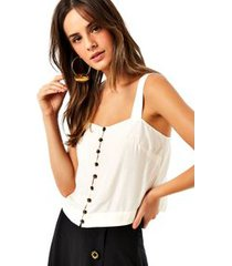 top cropped seda rustica off white