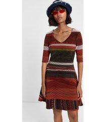 boho striped dress - orange - xxl