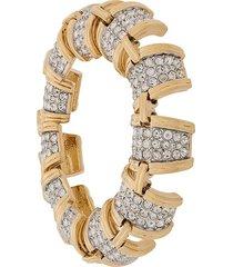 susan caplan vintage 1990s d'orlan bracelet - gold