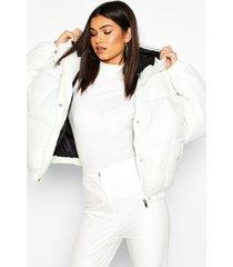 oversized gewatteerde raglan jas, crème