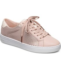 irving lace up låga sneakers rosa michael kors shoes