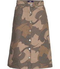 grit skirt knälång kjol grön wood wood