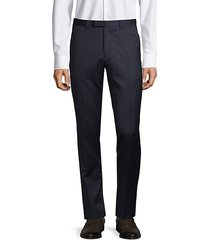 flat-front wool dress pants