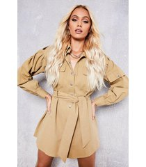 utility pocket oversized shirt, stone