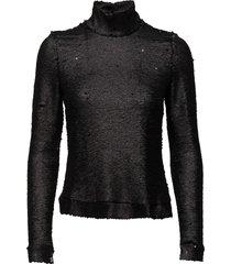 shea by nbs t-shirts & tops long-sleeved zwart custommade