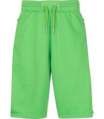 givenchy contrasting strap track shorts - green