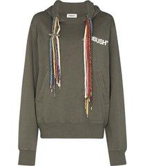 ambush rainbow string hoodie - green