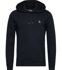 over head small logo hoody hoodie trui blauw original penguin