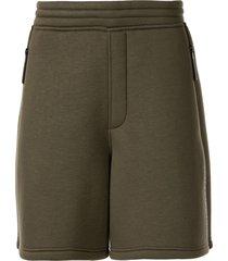 blackbarrett zipped pull-on track shorts - green