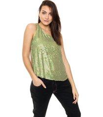 blusa verde etam jeans lentejuelas