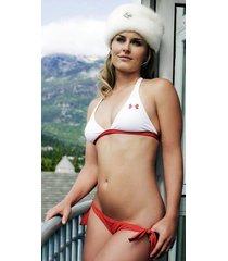 lindsey vonn    bikini  fur hat  2.5 x 4.5 fridge magnet