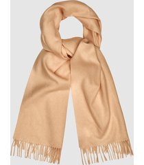 reiss saskia - lambswool cashmere blend scarf in camel, womens