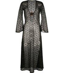 dodo bar or sheer buckle detail beach dress - black