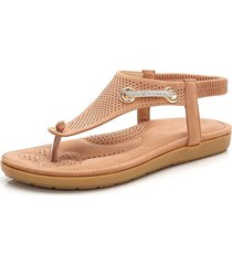 infradito in metallo slip on sandali con strass