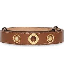 burberry triple stud belt - brown