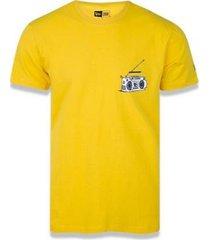camiseta manga curta street taste soundclub amarelo new era - masculino