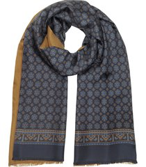 forzieri designer men's scarves, two tone modal and printed silk men's scarf