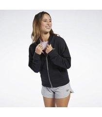 trainingsjack reebok sport training essentials hoodie met ritssluiting