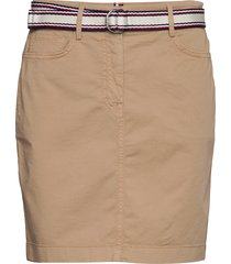 gmd cotton tencel slim skirt kort kjol beige tommy hilfiger