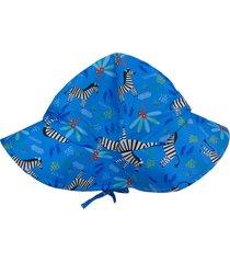 chapéu ecokids zebra menino azul