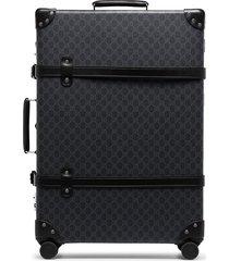 gucci monogram print suitcase - black