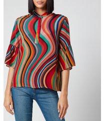 ps paul smith women's multi stripe shirt - multi - it 44/uk 12