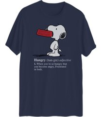 men's hangry snoopy short sleeve t-shirt