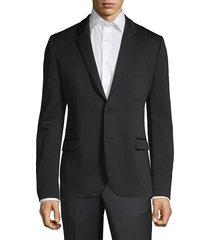 hugo men's arlido slim-fit single-breasted jacket - black - size 34 r