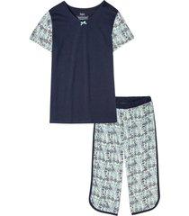 pigiama con pinocchietto in cotone biologico (blu) - bpc bonprix collection